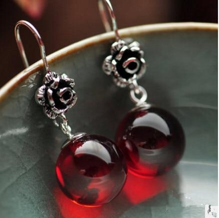 Ms 925 sterling perhiasan perak Thai silver memulihkan cara kuno red - Perhiasan bagus