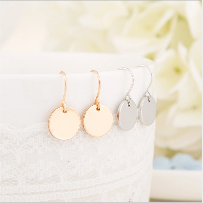 New Round Hanging Earring Fashion Gold Silver Color Small Earings ...