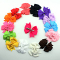 New 2016 boutique  baby girl hair ribbon bow clips  hairpin girl's butterfly hairgrip hairwear kids hair accessories