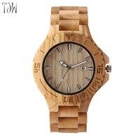 Dayjun Watch Luxury Wooden Watch Japan Movement Wooden Watch Quartz Wristwatch Freeshipping
