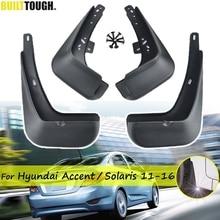 Car Mudflaps For Hyundai Solaris RB 2011   2016 Mud Flaps Splash Guards Mudguards Front Rear Protector 2012 2013 2014 2015 hatch