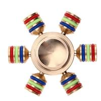 DIY Rainbow Fidget Spinner Metal Finger Spinner Hand Spinner Brass For Autism Adult Anti Relieve Stress