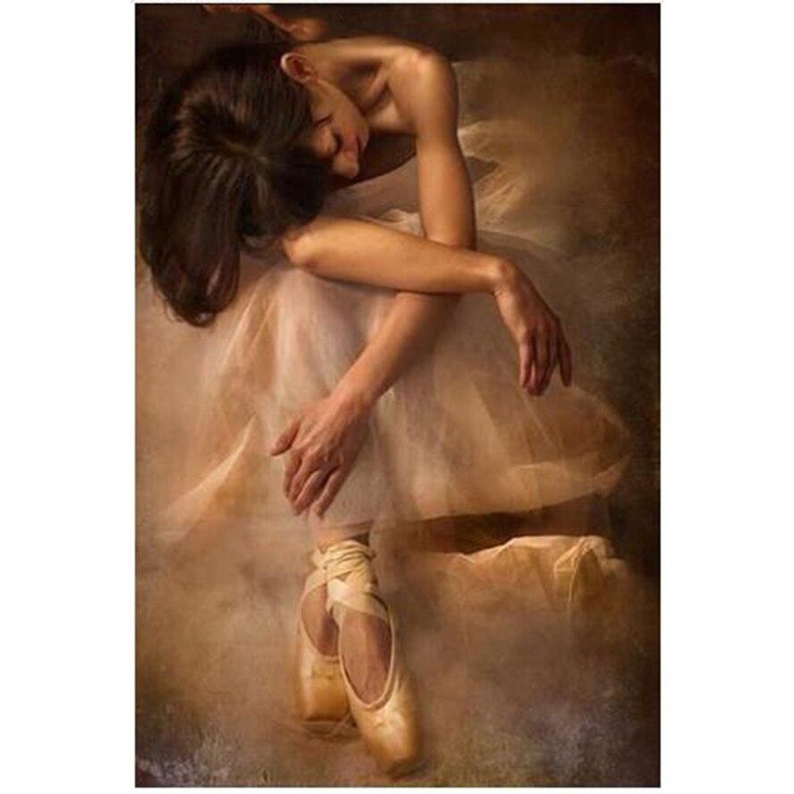 Diy 5D diamond painting all sticks diamond Graceful ballet dancer mosaic flower living room home decoration, gift AS734