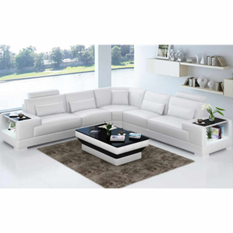 Fabulous L Shaped Clean Comfortable Pure White Leather Sofa Aliexpress Pdpeps Interior Chair Design Pdpepsorg