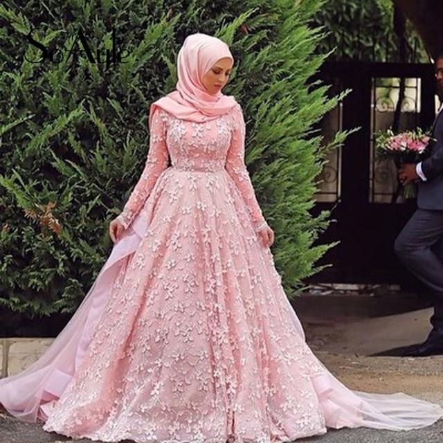 SoAyle Bordo Hijab Musulmán Kaftan Vestidos de Noche de Manga Larga ...