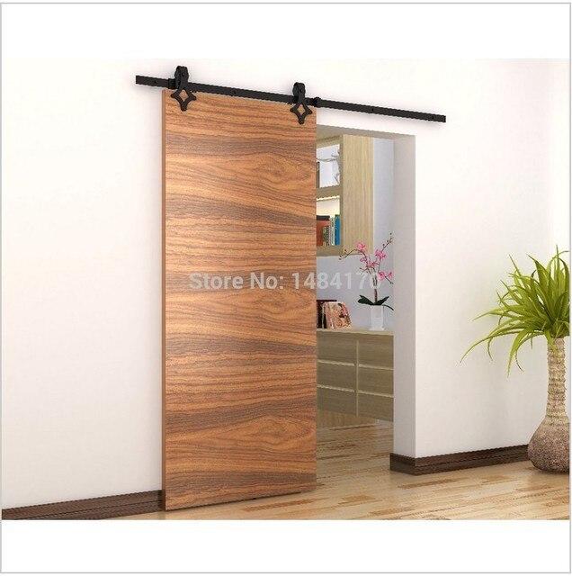 Modern deslizante de acero granero de madera hardware y for Puerta corredera interior madera