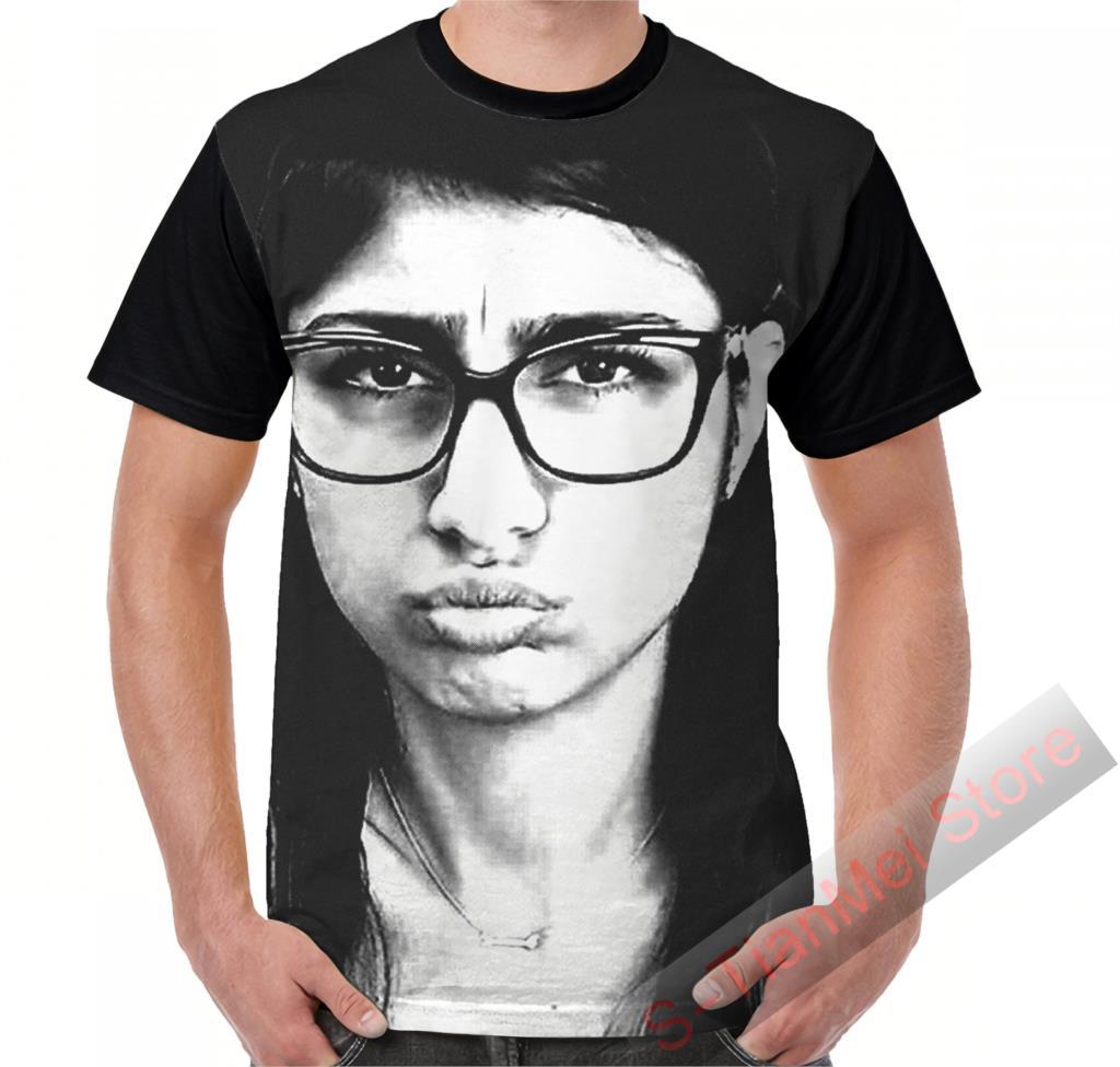 Summer Graphic T Shirt Men Tops Tees Mia Khalifa Printed Women Funny T-Shirt Short Sleeve Casual Tshirts
