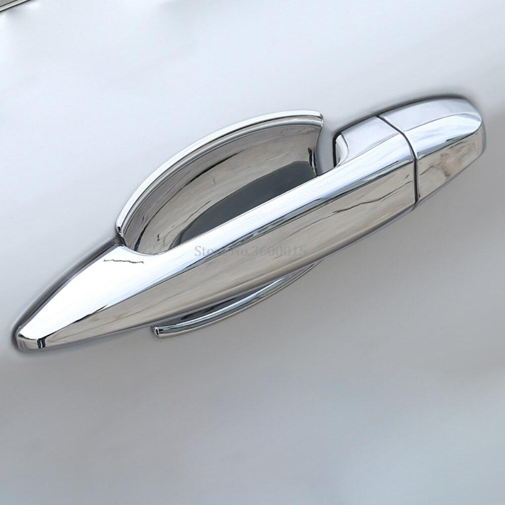 Para BMW Série 2 Tourer Ativo 2018 2017 2016 2015 Acessórios Do Exterior Do Carro Tampa Tampa Alça Decoração Porta Lateral Guarnição (F45 F46)