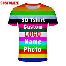 3D Tshirtฟรีที่กำหนดเองทำหมายเลขชื่อโลโก้ข้อความPhotoเสื้อยืดNation FlagประเทศCollege Imgทีมร่างกายทั้งหมดพิมพ์เสื้อผ้า