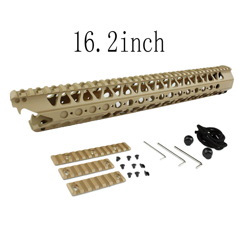 Airsoft Picatinny Rail 16.2 inch LVOA-C Viper handguard Rail system for Airsoft AEG Hunting Accessories 12 durable mil spec style matte finish lightweight aluminium handguard picatinny quad hunting shooting rail for aeg m4 m16 ar15
