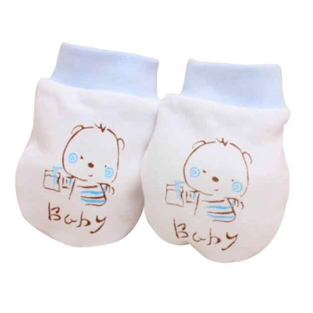 2018 Newborn Baby Gloves Anti Silicone Baby Mitt Teething Mitten Teething Glove Candy Wrapper Sound Teether Pink Blue 1N16