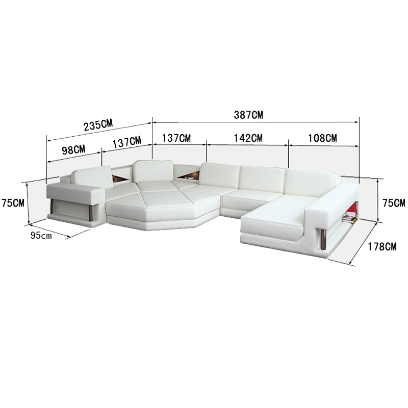 Big Size Leather Reclining Sofa Set Sale Living Room Sets Aliexpress