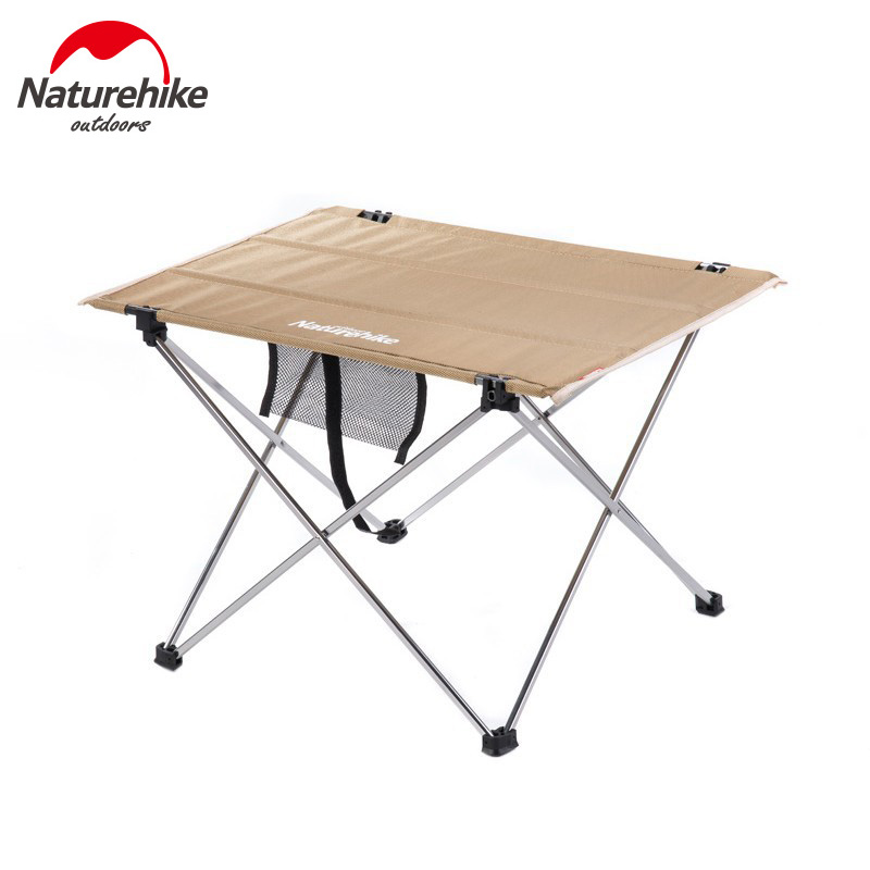 3naturehike Aluminium Alloy Table Portable Picnic Table Outdoor Foldable Table Fishing Leisure Table Nh15z012 L A480