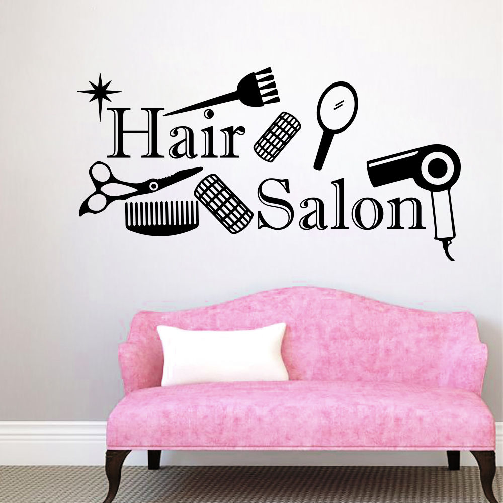 Online buy wholesale beauty hair salon from china beauty - Stickers muraux salon ...