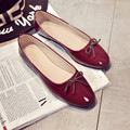 Женщины Квартиры Обувь Скольжения На Комфорт Обувь на Плоской Подошве Бездельники Круглый мелкая рот лук обувь дикий