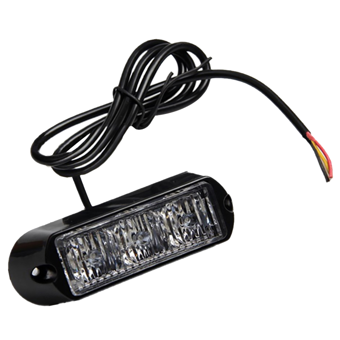 4x12/24v Black Recovery Strobe 3LED Lights Orange Grill Breakdown Flashing Lamp yellow