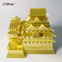 DIY Himeji Castle Three Dimensional Nano Metal Miniature Sculpture Jigsaw Puzzle Ornament 3D Puzzle DIY Model