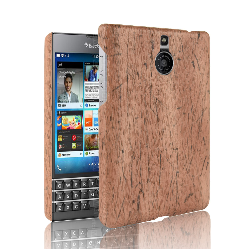 subin For <font><b>BlackBerry</b></font> <font><b>Passport</b></font> <font><b>Silver</b></font> <font><b>Edition</b></font> <font><b>Case</b></font> PU Wood Leather grain mobile holster shell For <font><b>BlackBerry</b></font> <font><b>Passport</b></font> phone <font><b>Case</b></font> image