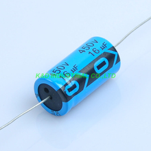 6pcs 16uf 450V Axial Electrolytic Capacitor For Guitar Valve Radio Tube Amp DIY цена