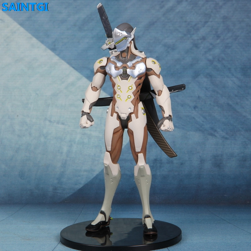 SAINTGI OW GENJI Action Figure PVC 18CM game figure Model kids Toys Gifts Collection T704 new patterns game genji ow metal weapons zinc alloy exquisite darts rotatable ninjia professional cosplay props kids gift in box