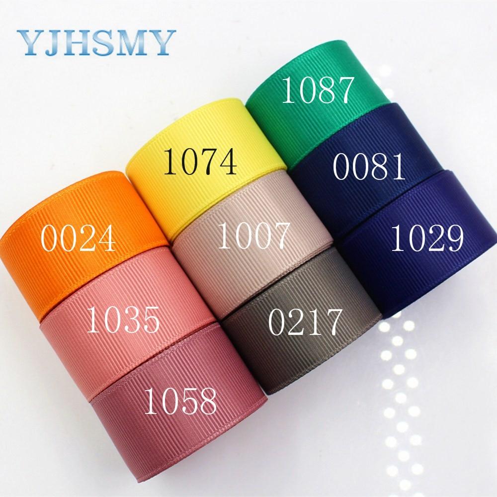 Yjhsmy 176068,25 мм 10 ярдов сплошной Цвет Ленты Термальность передачи печатных Grosgrain Свадебные Аксессуары Сделай Сам материал ручной работы