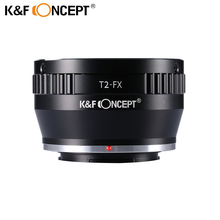 K&F CONCEPT Lens Mount Adapter Ring for Adjustable Copper T2 T Telescope Lens to Fujifilm FX Mount Adapter DSLR Camera Body