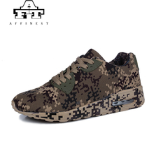 AFFINEST Men Running Shoes Light Camouflage Shoes Women Trainers Unisex Sport Shoes Breathable Soft Sneakers Brown Plus Size 46