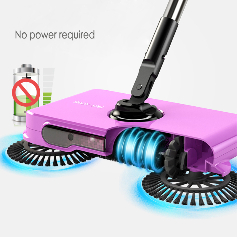 Hand-push Sweeping Machine Vacuum Cleaner Hhome Broom Dustpan Set Non-electric Sweeping Machine Broom Sweeping Artifact new stainless steel sweeping machine push type hand push magic broom dustpan handle household cleaning package hand sweeper