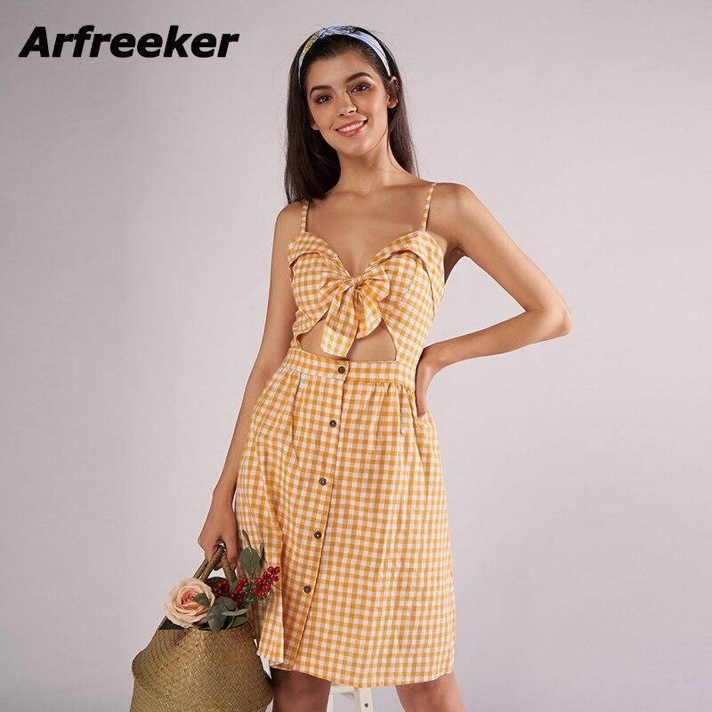 Arfreeker Off Shoulder Strapless Summer Dress