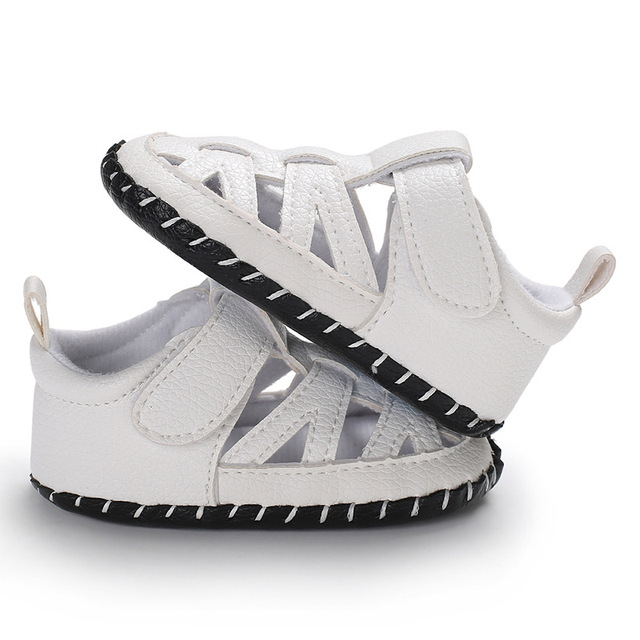 ROMIRUS 2018 Summer Baby Shoes Boys Girls casual PU leather Breathable dress Baby Toe Cap Covering Boys Canvas Sneakers