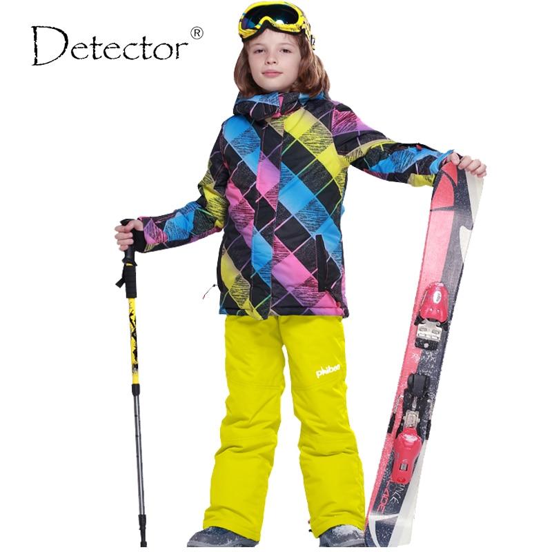 Detector Boys Ski Jacket Children Waterproof Windproof Clothing Kids Ski  Set Winter Warm Snowboard Outdoor Ski 8a405fd6a