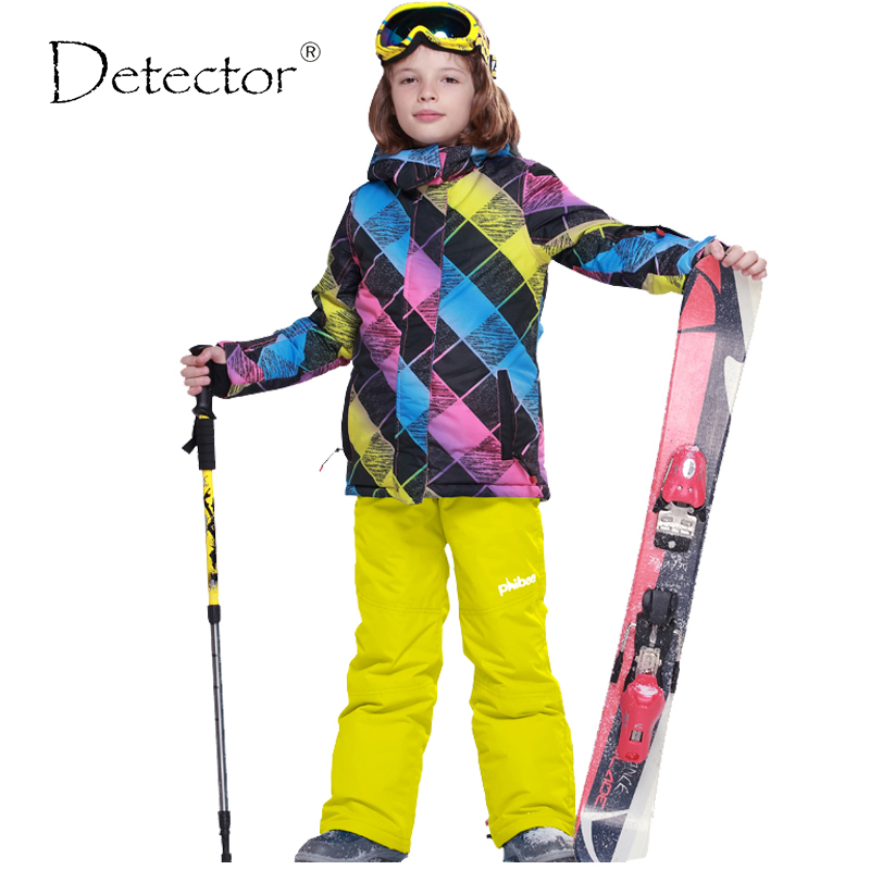 Detector Boys Ski Jacket Children Waterproof Windproof Clothing Kids Ski Set Winter Warm Snowboard Outdoor Ski Suit Boys Ski Set detector boys ski jacket children waterproof windproof clothing kids ski set winter warm snowboard outdoor ski suit boys ski set