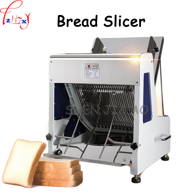 Electric Commercial Bread Slicer 31 Slices Of Bread Slicer Square Bag Tusi Sanitary Tricks Machine Stainless Steel 110/220V 1pc