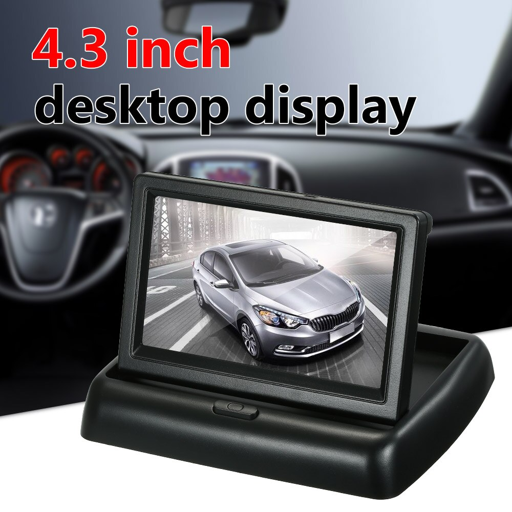 5 Styles Optional 4.3 Inch TFT Color Display Foldable Car LCD Monitor Dashboard Screen Parking  Monitor 16:9 Display