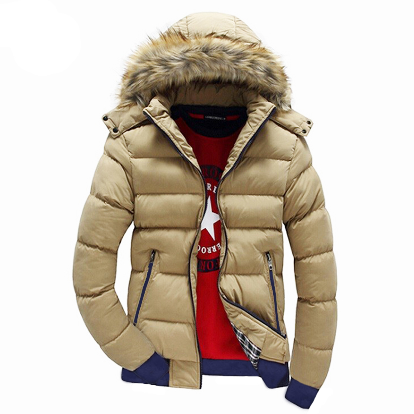 Image 5 - Mountainskin Men's Winter Jackets Thick Hooded Fur Collar Parka Men Coats Casual Padded Mens Jackets Male Clothing 6XL 7XL SA748-in Parkas from Men's Clothing