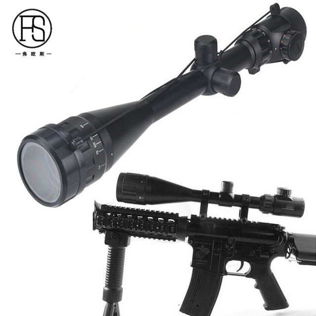 Tactical 6-24x50 AOE Green Red Dot Riflescope Military Hunting Gear Airsoft Air Guns Rifle scope Fit For 11mm Or 20mm Rail