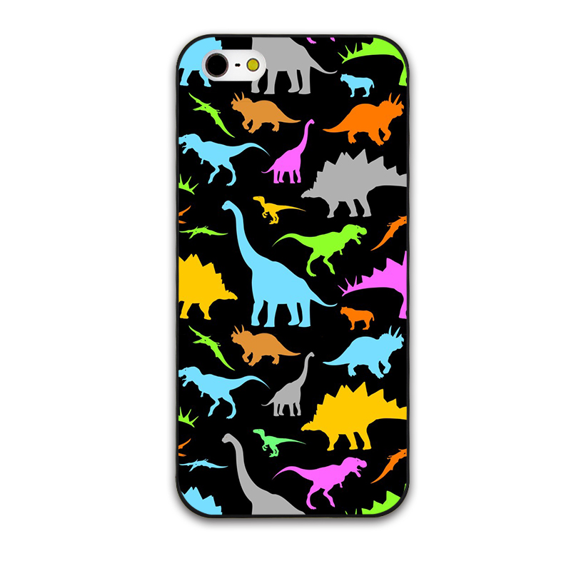 Colorful Cute Little Dinosaur And baby Elephant Hard Cover