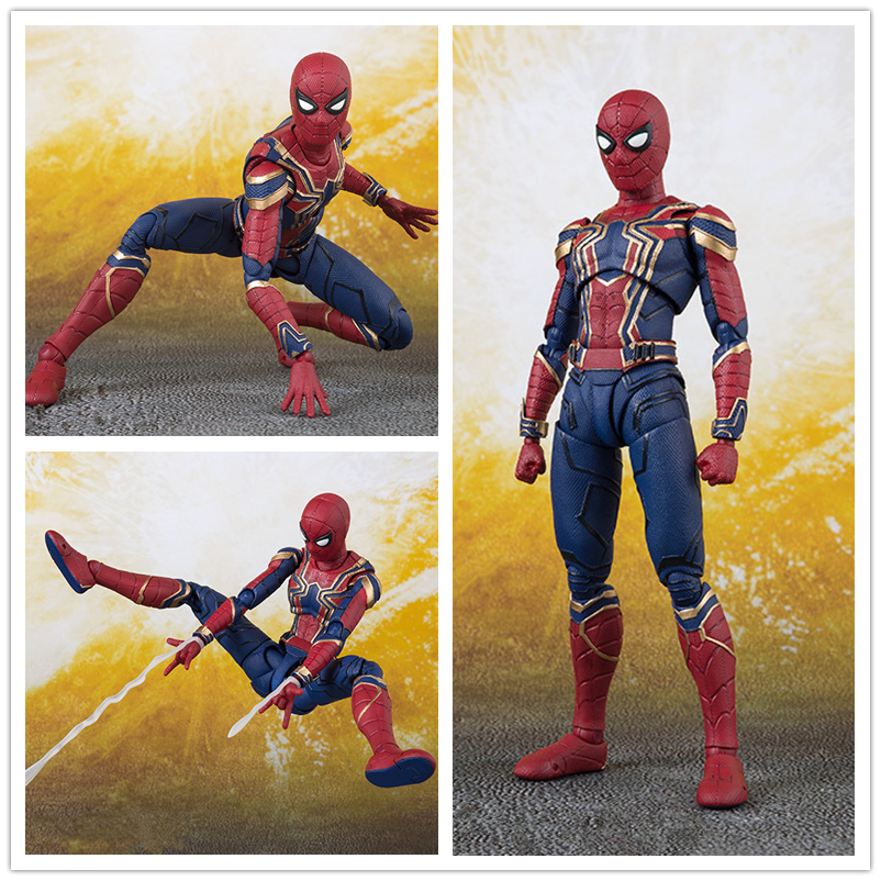 marvel-font-b-avengers-b-font-infinity-war-iron-spider-shf-shfiguarts-spiderman-pvc-action-figure-collectible-model-kids-toys-doll-14cm
