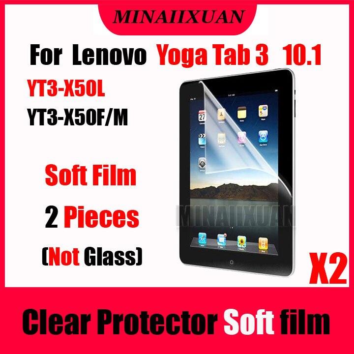 Galleria fotografica 2Pcs Clear Screen Protective Soft Film (NOT Glass) for Lenovo Yoga Tab 3 10.1 X50L X50F X50M YT3-X50L YT3-X50M YT3-X50F Tablet