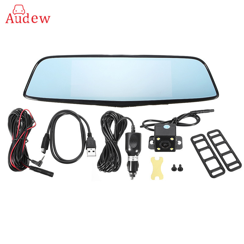 7Inch HD Car DVR Rearview Camera Mirror FHD 1080p Android 4.4 GPS eDog Radar Laser Dual Lens Video Recorder DashCam 5 inch car camera dvr dual lens rearview mirror video recorder fhd 1080p automobile dvr mirror dash cam