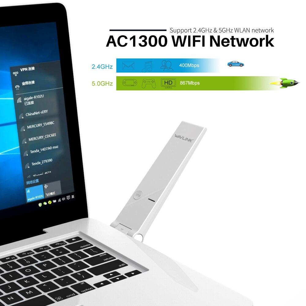 Netzwerk Karten Dual Band 802.11ac 1300 Mbps Usb Wireless Wifi Adapter Drahtlose Netzwerk Karte 2,4/5 Ghz High Speed Wifi Dongle Für Laptop Desktop