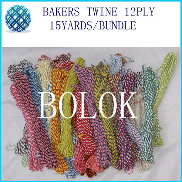 42 color 20pcs/lot (300yards)baker twine15yards/bundle divine cotton twine used in wrapping tag, gift cards 42 kinds color