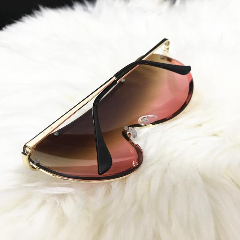 Rimless Gold Clear Sunglasses Men Women Brand Designer Aviator Clear Sunglasses 27