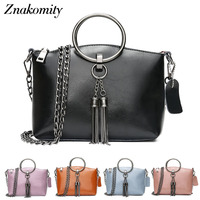 Znakomity Luxury Cow Women Hand Bag Ladies Genuine Leather Messenger Bag Women S Charm Black Chain