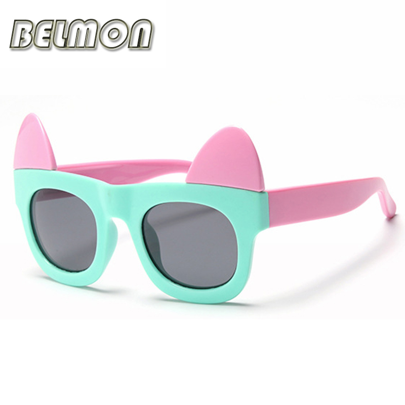 Fashion Kids Cat Eye Polarized Sunglasses Brand Sun Glasses Boys&Girls Baby Suitable For Children Aged 3-10 TR90 Frame RS115