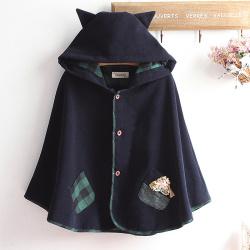Korea style autumn winter women girl wool hooded coat bomber font b jacket b font font.jpg 250x250