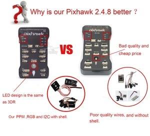 Image 5 - Pixhawk PX4 PIX 2.4.8 32 קצת טיסה בקר + 433 / 915 טלמטריה + M8N GPS + המינים OSD + PM + בטיחות מתג + זמזם + PPM + I2C + 4G SD