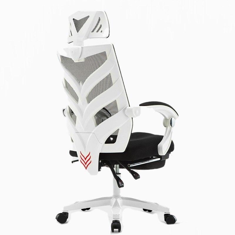 Alta Qualidade Chefe Lacework Silla Esports Gaming Gamer Poltrona Cadeira de Escritório Apoio Para Os Pés Pode Mentir Com Respirável Almofada Domésticos
