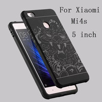 3D Carved Dragon Protector Shell Cover Fundas For Xiaomi 4s Soft Silicon Rubber Phone Case Capa
