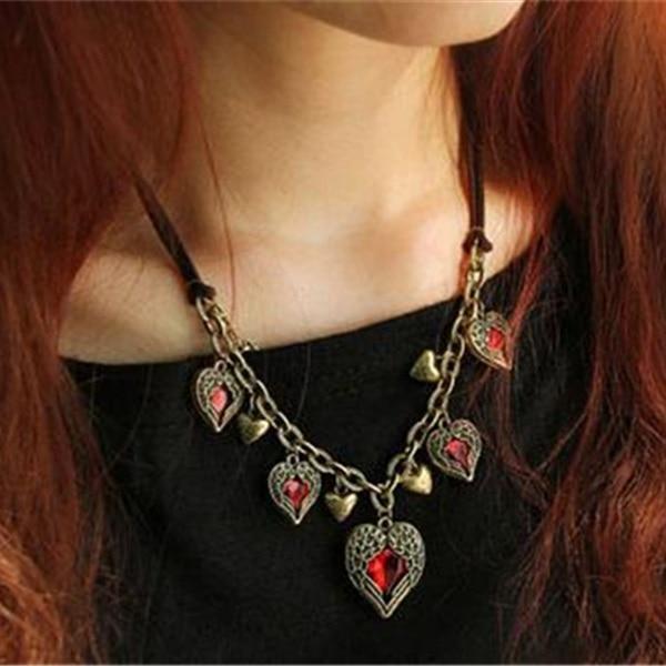 Женское винтажное ожерелье, Двухслойное ожерелье из кожи с кристаллами и крыльями Колье      АлиЭкспресс